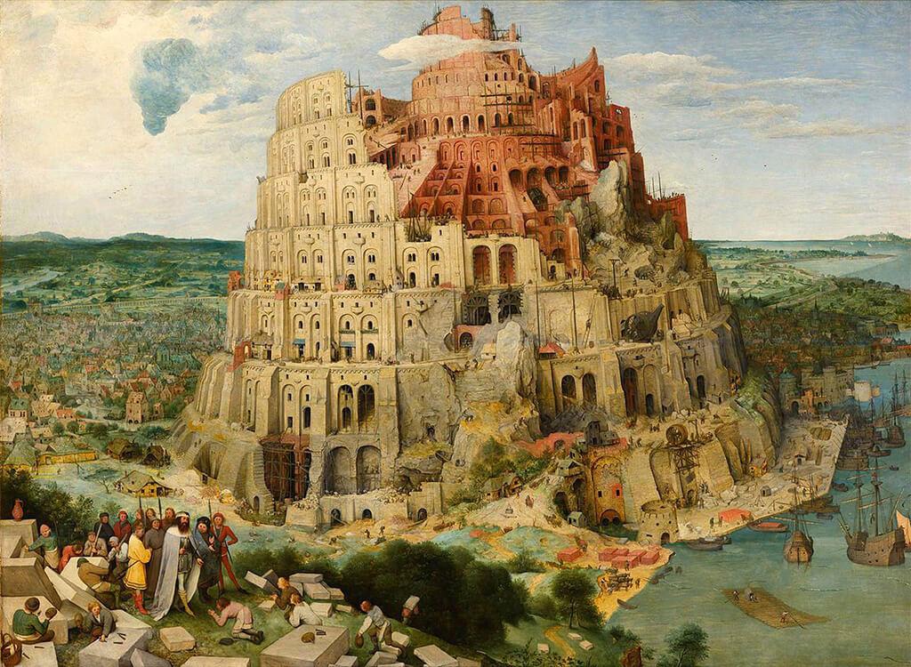 Torre de Babel e rio