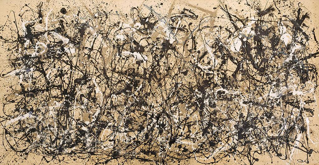 Tela de Jackson Pollock, evidenciando a relação homem-ambiente