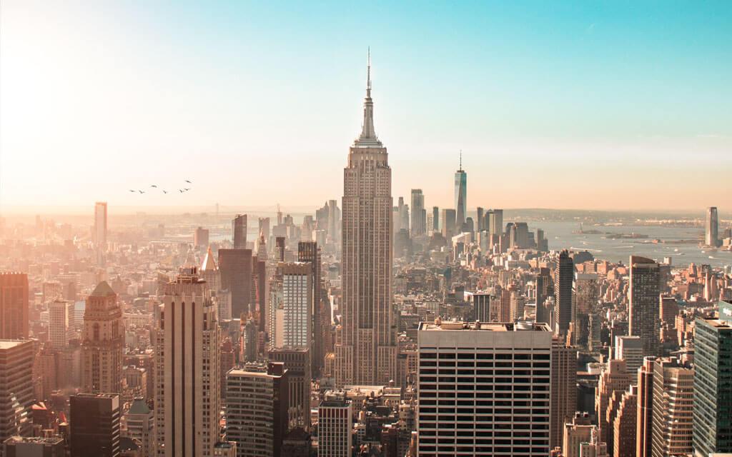 Vista aérea da cidade de Nova Iorque
